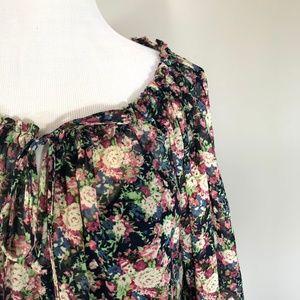 Love Haight Dresses - Love Haight flowy boho long sleeve blouson dress L
